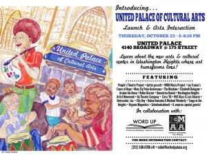 United Palace of Cultural Arts – Launch and Arts Interaction