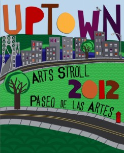Uptown Arts Stroll 2012 poster design