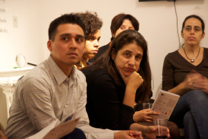 """""""Immigrant Too"""" was curated by Gabriel de Guzmán (left), and Angela Fernández, Director of the Northern Manhattan Coalition for Immigrant Rights, participated in a forum on the exhibit."""