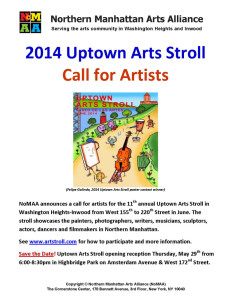 2014 Uptown Arts Stroll - Call for Artists