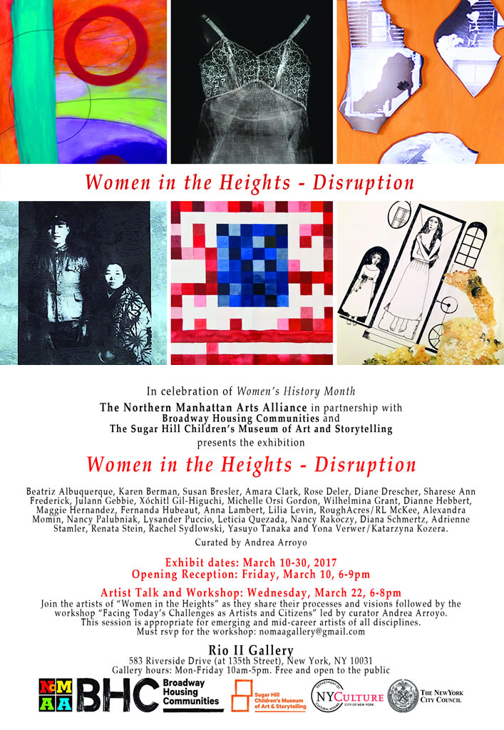 Women in the Heights 2017, postcard
