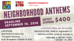 OPEN CALL – Neighborhood Anthems