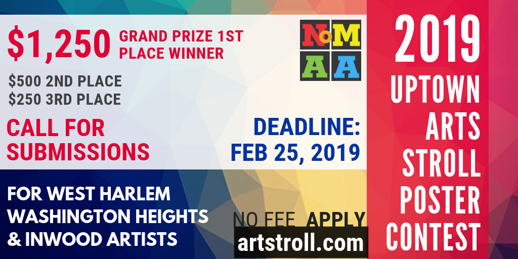 2019 Uptown Arts Stroll Poster Contest – Northern Manhattan