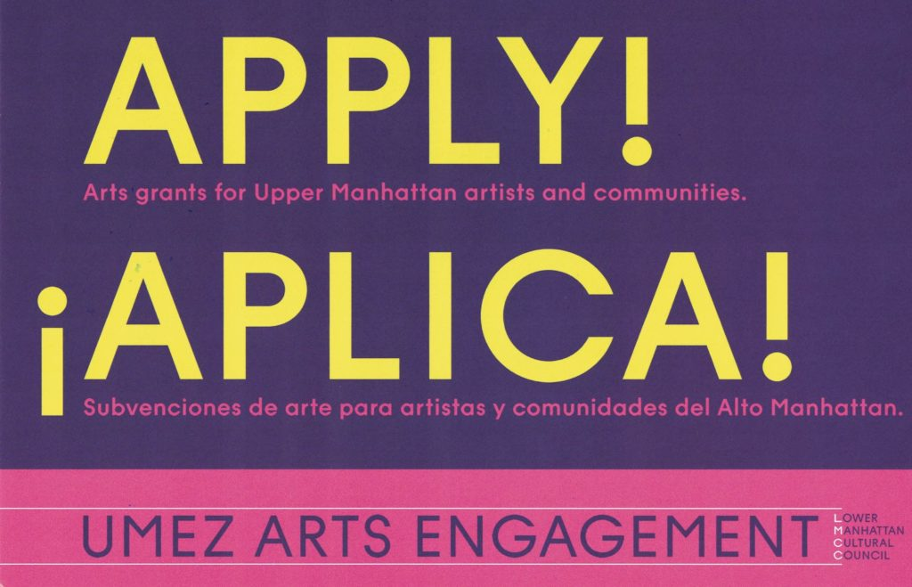 LMCC – UMEZ ARTS ENGAGEMENT info session – Northern Manhattan Arts