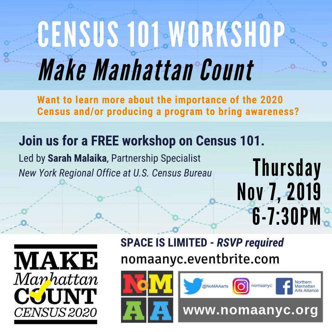 CENSUS 101 WORKSHOP – Make Manhattan Count