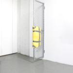 04_Rivlin_Bat-Ami_Untitled metal gate, yellow foam, duct tape_Found object sculpture_90x35x35