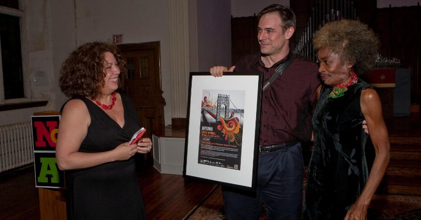 2009 Uptown Arts Stroll opening with Marjorie Eliot, Mike Fitelson & Sandra García Betancourt