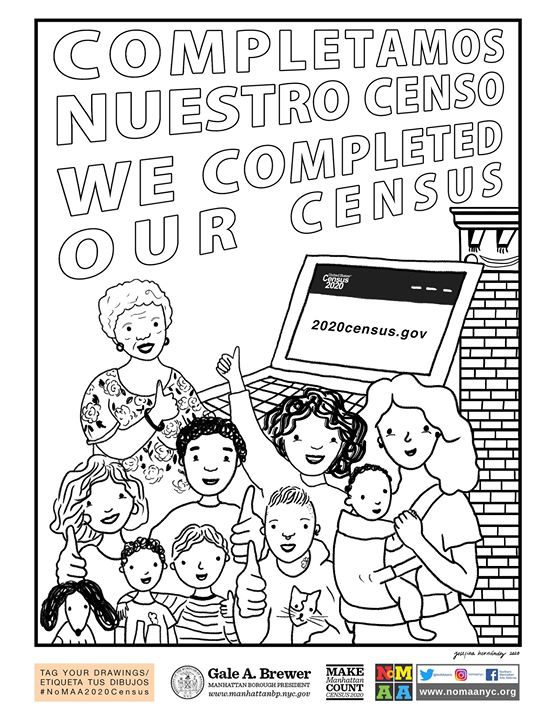 NoMAA's 2020 Census Coloring Contest part 2 of 3