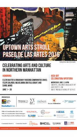 View the 2016 Uptown Arts Stroll Guide