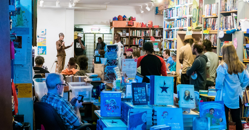 2016 Uptown Arts Stroll at Word Up Community Bookshop / photo by Michael Palma Mir